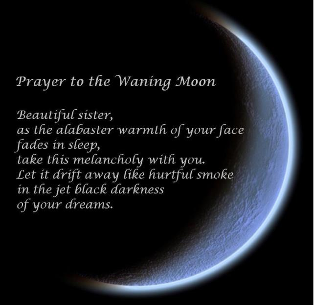 Prayer to the Waning Moon