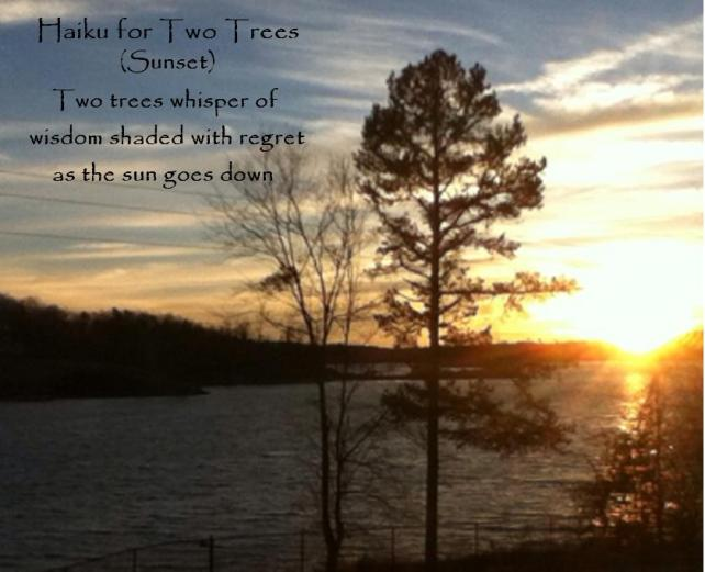 Haiku for Two Trees (Sunset)